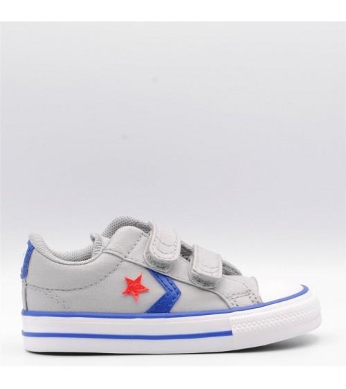 zapatillas deportivas converse all star bebé velcro gris