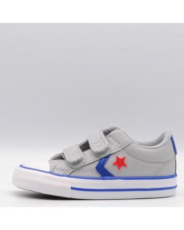 zapatillas deportivas converse all star niño velcro gris