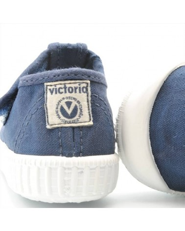 sandalia lona victoria niño azul marino