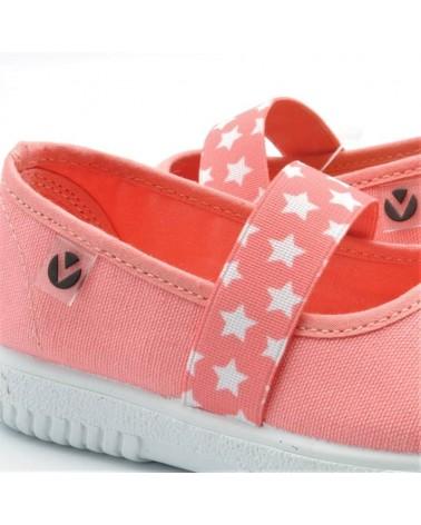 zapatillas lona bebé victoria elástico estrellas
